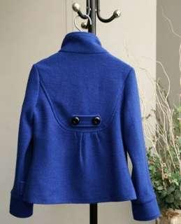 Women's Korean Fashion Fit Slim Woolen Collar Jacket Turtleneck Coat
