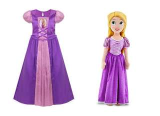 Tangled Princess Rapunzel Nightgown Night Gown & Plush