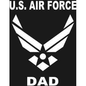 U.S. AIR FORCE DAD Wings logo white window or bumper sticker