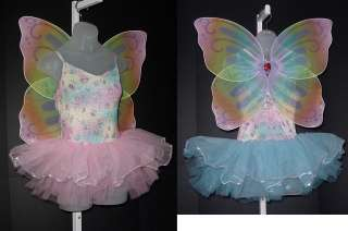 TWINKLE PIXIE FAIRY w/Wings BLUE Dance HALLOWEEN Costume Child XL