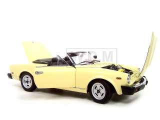 FIAT SPIDER 124 CREAM 118 AUTOART DIECAST MODEL