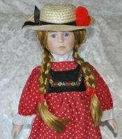 Porcelain Tupperware Doll 18 High Sales Farm Girl GUC