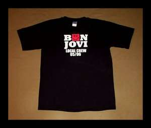 Bon Jovi T SHIRT Local Crew CLASSIC ROCK Tour 2005/06 RARE w@w
