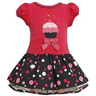 Bonnie Jean Baby Girls Cupcake Polka Dot Birthday Party Dress 18M New