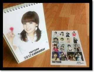Girls Generation SNSD TAEYEON COLLECTION 2012,2013 DESK CALENDAR