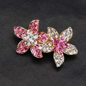Floral Swarovski Crystal Hair Barrette Clip Small Size Beauty
