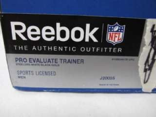 Steelers Pro Evaluate Trainer White Black Gold Shoes Sneakers R153