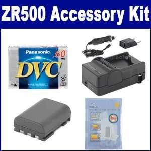 com Canon ZR500 Camcorder Accessory Kit includes DVTAPE Tape/ Media