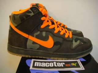 DS Nike Dunk High Pro SB Brian Anderson Camo Mens Sz 10 Low Premium