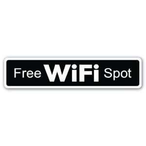 FREE WIFI SPOT Sign wireless coffehouse restaurant gift