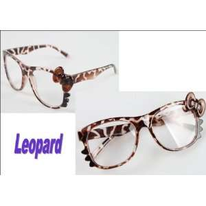 Super Cute Leopard Kitty Glasses with Clear Lenses Health