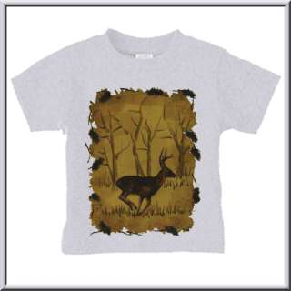 Whitetail Deer Buck Sketch NEW T Shirt TODDLERS & KIDS