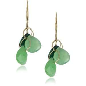 Joy Manning Neptune Chrysoprase and Gem Calcia Earrings: Jewelry