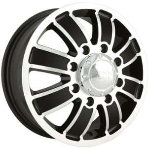 Alloy Ion Style 166 17x6.5 Black Wheel / Rim 8x210 with a 134mm Offset