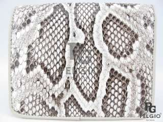 PELGIO New Genuine Python Snake Skin Leather Mens Wallet Natural Free