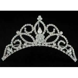 New Bridal Flower Girl Prom Party Crystal Tiara Comb 66 Beauty