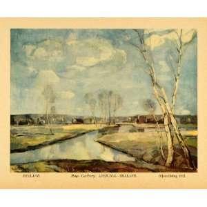 White Birch Trees Carlberg Art   Original Color Print