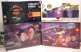 STAR TREK Games, Includes STNG interactive VCR Board Game, STNG Game