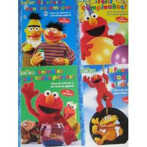 Sesame Street Giant Coloring & Activity Book 4 Pack (Plaza Sesamo