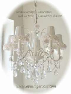 50 lg SOFT WHITE Mulberry Paper ROSES~Chandelier shades