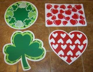 Valentines OR St. Patricks Day Vinyl Placemats 4 Styles U Pick NEW