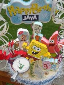 Spongebob Squarepants Bikini Bottom Cake Topper Birthday Party