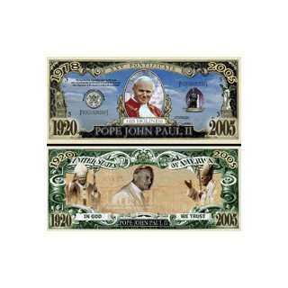 SET OF 5 BILLS POPE JOHN PAUL II COMMEMORATIVE BILL Toys