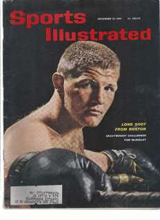 1961 SPORTS ILLUSTRATED LONGSHOT TOM MCNEELEY BOXING