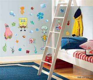 Spongebob Squarepants Kids Nursery Wall Sticker Decals