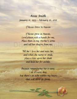Personalized Memorial Poem For Loss Of Mother