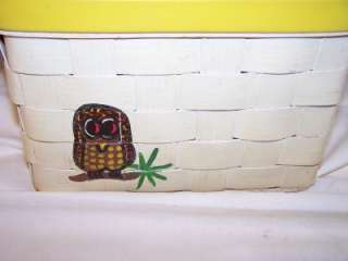 Vintage Signed Caro Nan Basket Purse Hand Bag Owls Coxs Accessories