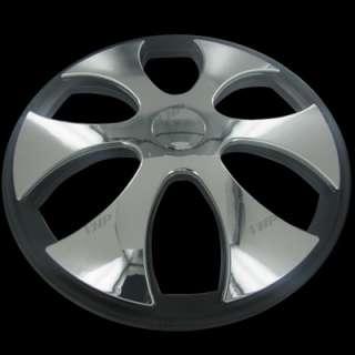 Set of 4 15 Chrome Spinner Spinning Hubcaps Hub Caps Wheel Covers