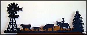 ft CATTLE DRIVE Western Metal Horse Art Silhouettes