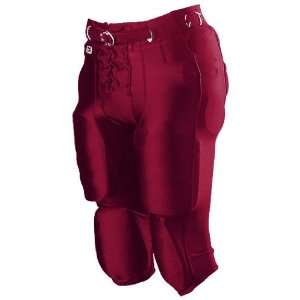 Alleson Youth Nylon/Spandex Football Pants MA   MAROON YXL