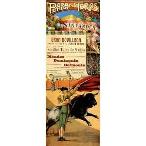 PLAZA DE TOROS SANTANDER BULL FIGHT RUN SPAIN VINTAGE