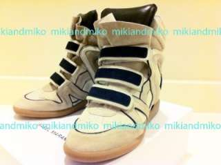 NEW Isabel Marant BEIGE WILA sneakers Bekkett Willow 36