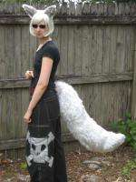 WHITE ARCTIC FOX WOLF EARS & TAIL ADULT COSPLAY COSTUME