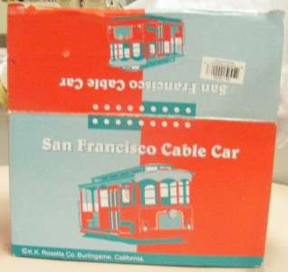 This San Francisco musical trolley cable car seems to be new after