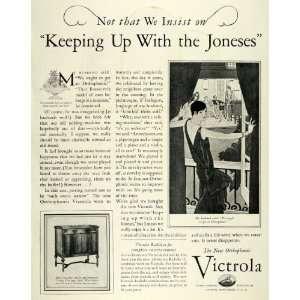 1928 Ad Victrola Talking Machine Radio Music Players