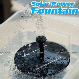 New Solar Panel Power Fountain Pond Pool Water Pump Garden Plants