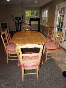Country French Dining Room Table & Chairs, by Fremarc Designs