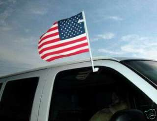 Lot of 2) USA Car Window American Flags