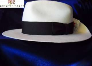 Michael Jackson Smooth Criminal White Fedora Hat
