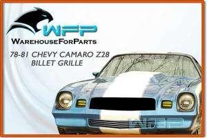 78 81 Chevy Camaro Z28 Bumper Billet Grille Grill Insert