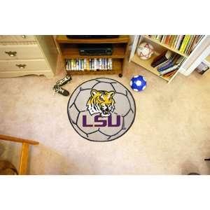 Louisiana State Fightin Tigers NCAA Soccer Ball Round Floor Mat (29