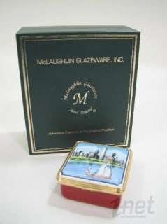 Mary McLaughlin Enamel Trinket Box Chicago Skyline Hand painted LE 4