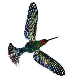 New Blue & Green HUMMINGBIRD METAL WALL ART Sculpture Hummingbirds