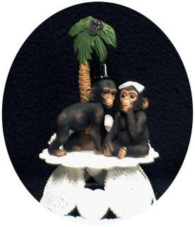 Your My Cutie Funny Monkey Chimp Ape Wedding Cake topper Groom top