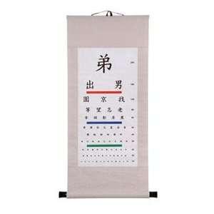 Chinese Eye Chart Wall Hanging