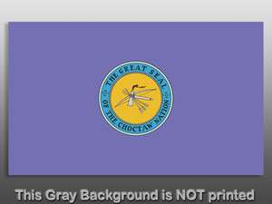 Choctaw Nation Flag Sticker decal great seal native usa
